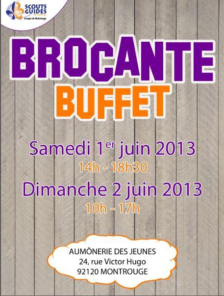 Affiche Brocante 2013